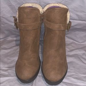 Pazzo Brown Ankle Boots with Faux Fur Women's 8.5
